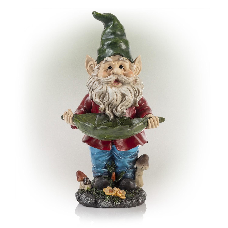 """17"""" Tall Garden Gnome Bird Feeder"""