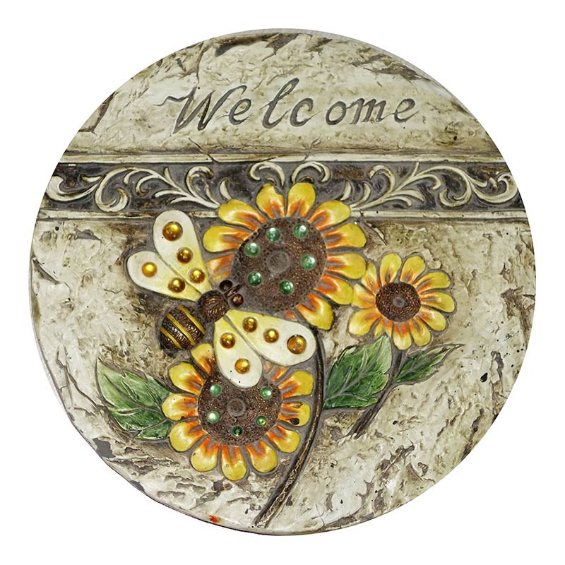 "11"" Welcome Bee and Sunflower Stepping Stone"