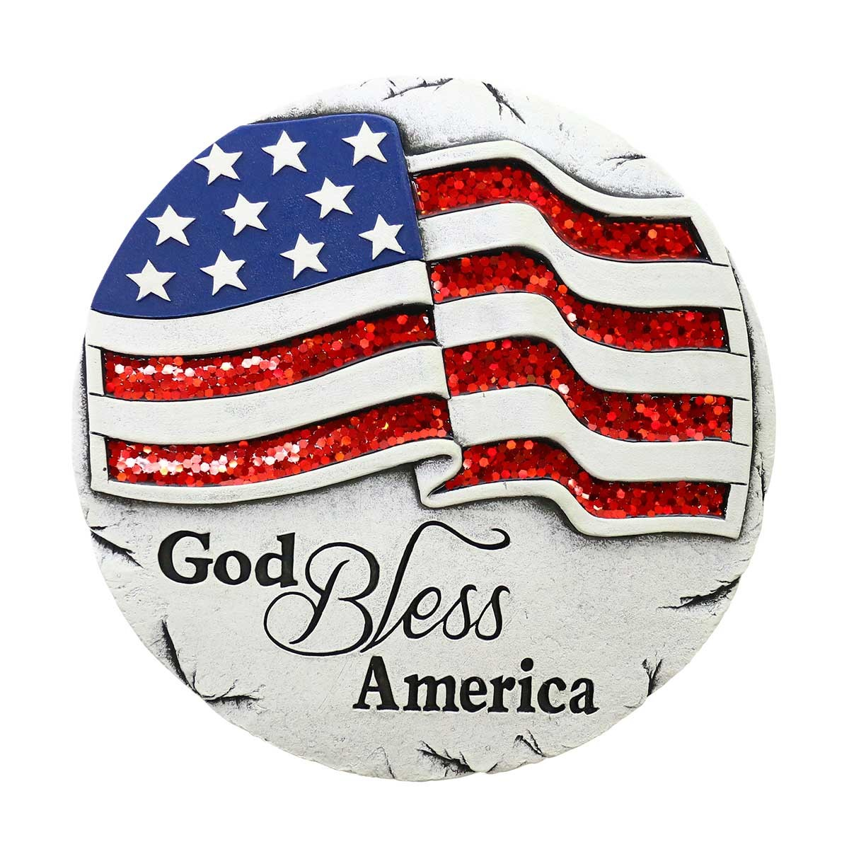 "10"" ""God Bless America"" Stepping Stones Set of 4"