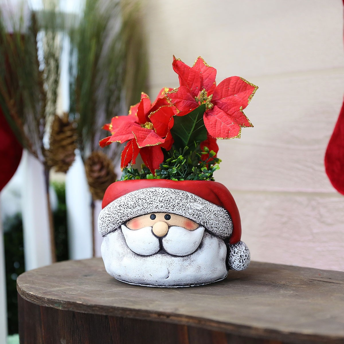 "6"" Santa Clause Flower Pot"