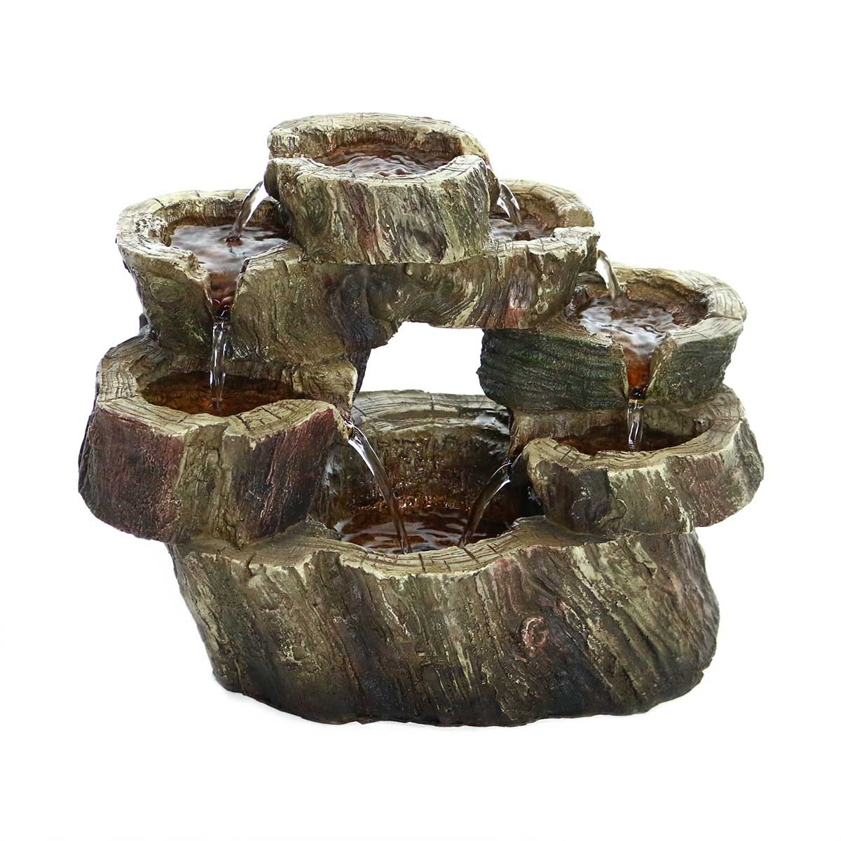 "10"" Circular Tiered LED Tabletop Fountain"