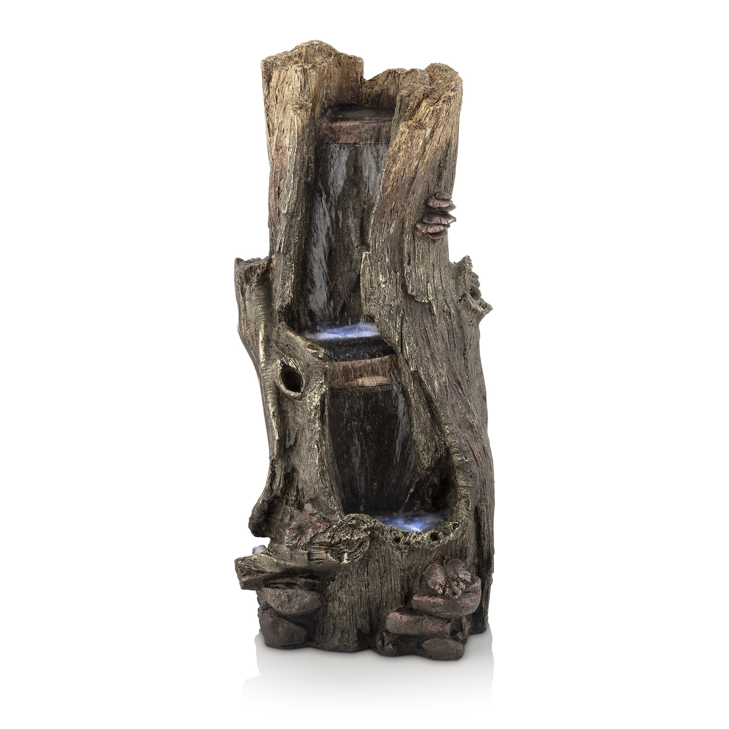 "Alpine 41"" Tall Rainforest Forest Floor Fountain w/ LED Lights"