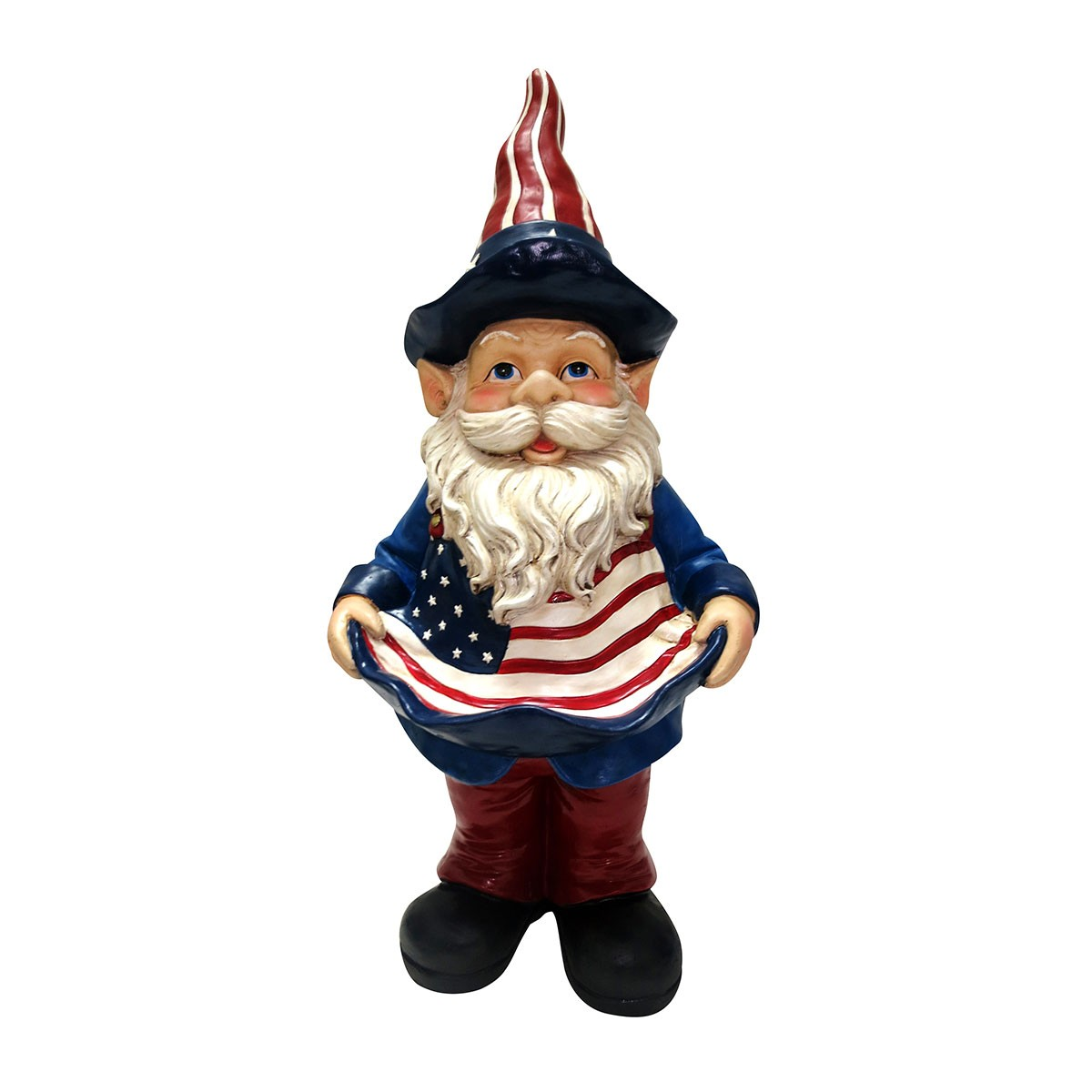 Americana Bird Feeder Gnome
