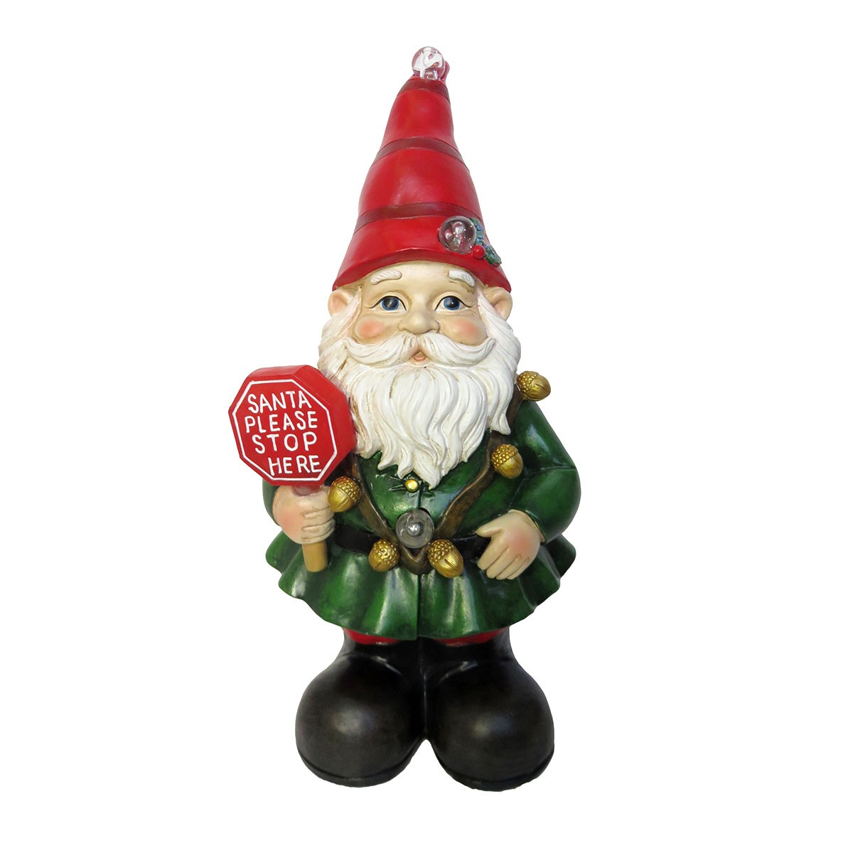 Xmas Gnome Statues with Color Changing LED Lights