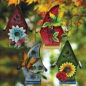 "10'"" Tall Hanging Solar Birdhouse"