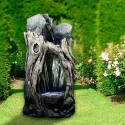 "Grand 52"" Tall Rainforest Forest Floor Fountain w/ LED Lights"
