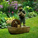 "24"" Boy with Bucket on Boat Fountain"