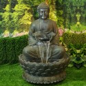 "54"" Buddha Zen Fountain with LED Light"