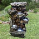 "51"" Tall Rainforest Waterfall Fountain LED Lights"