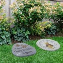 """10"""" Paws to Remember Cat Memorial Stone Décor"""