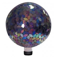 "10"" Mosaic Gazing Ball - Purple"