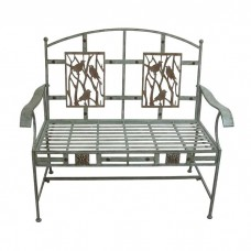 "44"" Wide Songbird Metal Bench"