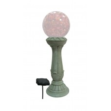 "24"" Tall Solar Gazing Globe Stand with 3 LED Lights"