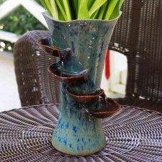 "16"" Tall Alpine Ceramic Vase Fountain"
