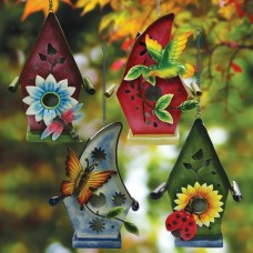 "Alpine 10'"" Tall Hanging Solar Birdhouse"