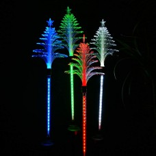 Solar Fiber Christmas Tree Garden Stake