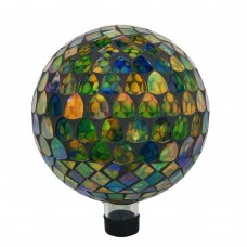 "10"" Mosaic Glass Gazing Globe MultiColor"