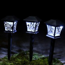 Alpine Solar Garden Silhouette Lantern 3 pc set