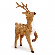 "36"" Brown Prancing Reindeer w/ 150 Clear Lights"