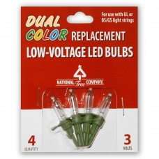 4 Low Voltage Dual LED Replacement Bulbs- Blister Pack