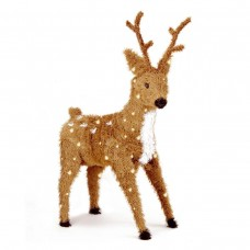 "36"" Brown Standing Reindeer w/ 150 Clear Lights"