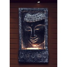 "28"" Tall Buddha Wall Fountain w/ Light"