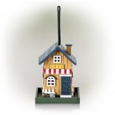 "18"" Colorful Hanging Wooden Birdfeeder Café House"