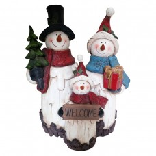 "11"" Snowman Family Statue"