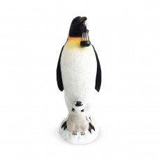 "37"" Solar Christmas Penguin Statue Decor"