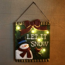 "13"" Christmas 'Let It Snow' Light-up Hanging Wall Decor"