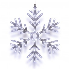 """23"""" Hanging Snowflake with 102 LED Lights"""