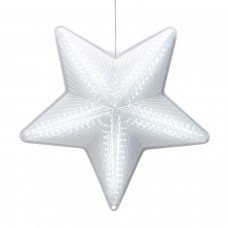"""19"""" 3D Star Hanging Decoration w/ 45 LED Lights - 6 Functions"""