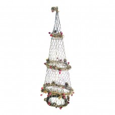 "28"" Christmas Rattan Light-up Christmas Tree Decor"