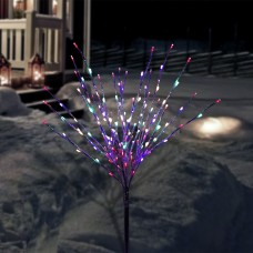 "39"" Foil Tree Branch Lighted Decor Stake with Multi-Colored LEDs"
