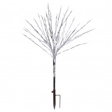 """39"""" Foil Tree Branch Lighted Decor Stake with Warm White LED"""