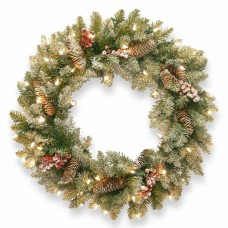 "30"" Dunhill Fir Wreath with 50 clear lights"