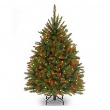 4 1/2 Dunhill Fir Hinged Tree w/ 450 Multi Lights