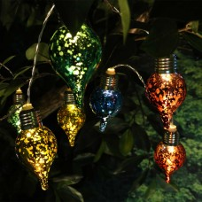 Multi-Colored Tear Drop String Lights w/10 LED Bulbs -TM