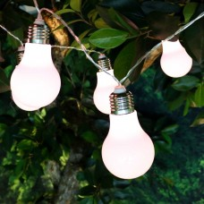 White Edison Bulb String Lights w/10 LED
