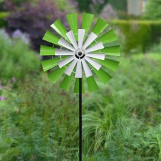 "Solar 68"" Dual Kinetic Windmill Stake with LED Light"