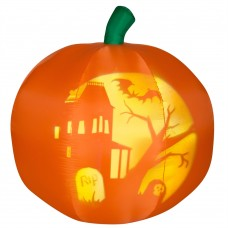 5' Panoramic Projection Airblown Pumpkin