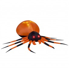 8' Projection Airblown Whirl-A-Motion-Black/Orange Spider