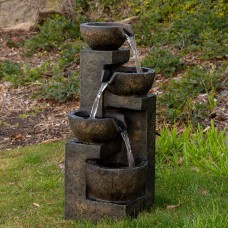 "Alpine 24"" Tall Three Tier Water Fountain"