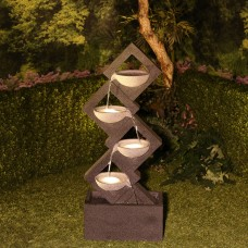 Soothing 4-Tier Fountain with LED Lights