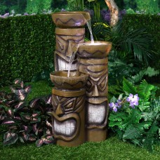 "30"" Tall Lighted Tiki Fountain"