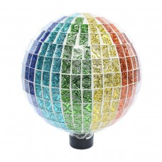 "10"" Rainbow Mosaic Gazing Globe Embossed Tile Pattern"