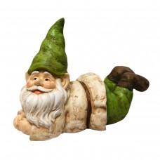 "13"" Tall Gnome Lying Down Statue"