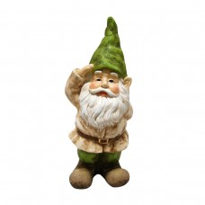 "14"" Tall Gnome Saluting Statue"