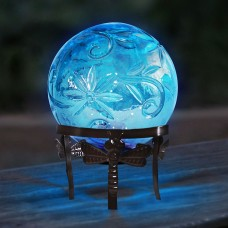 "10"" Glass Globe Décor w/ LED Light"