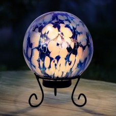 Blue and White Gazing Globe with LED Lights